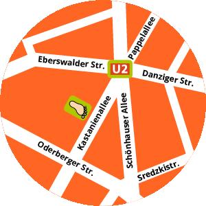 Der Kinderschuh im Hof Karte Standort Adresse